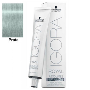 SCHWARZKOPF PROFESSIONAL COLORAÇÃO IGORA ROYAL ABSOLUTES SILVERWHITE