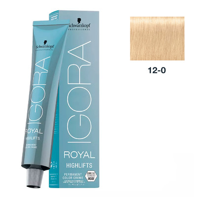 SCHWARZKOPF PROFESSIONAL COLORAÇÃO IGORA ROYAL HIGHLIFTS 12-0