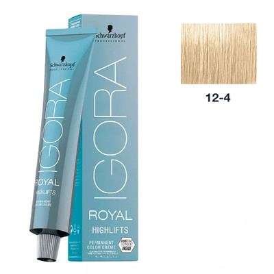SCHWARZKOPF PROFESSIONAL COLORAÇÃO IGORA ROYAL HIGHLIFTS 12-4