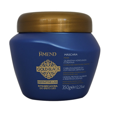 AMEND MÁSCARA INTENSIFICADORA DE EFEITO LISO GOLD BLACK DEFINITIVE LISS