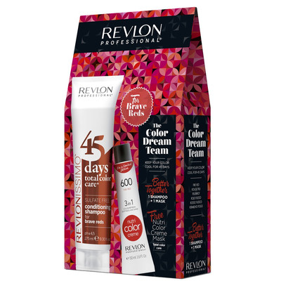 REVLON PACK 45DAYS + NUTRI COLOR BRAVE REDS