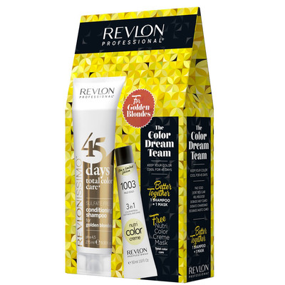REVLON PACK 45DAYS + NUTRI COLOR GOLDEN BLONDES