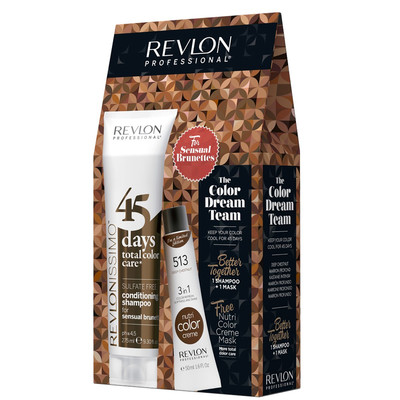 REVLON PACK 45DAYS + NUTRI COLOR SENSUAL BRUNETTES