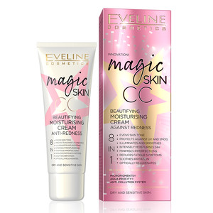 EVELINE MAGIC SKIN CC MOISTURISING CREAM ANTI-REDNESS 8IN1