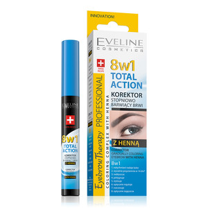 EVELINE EYEBROW THERAPY - PROF.CORRECTOR WITH HENNA 8 IN 1