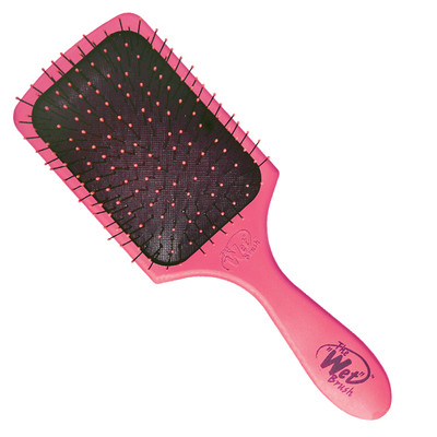 ESCOVA WET BRUSH RECTANGULAR PNEUMATICA ROSA