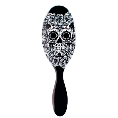 ESCOVA WET BRUSH SUGAR SKULL BLACK&WHITE