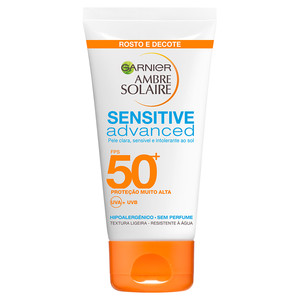 AMBRE SOLAIRE CREME ROSTO SENSITIVE ADVANCED FPS 50+
