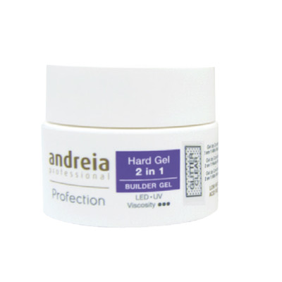 ANDREIA PROFECTION HARD GEL 2 EM 1 - GLITTER CLEAR