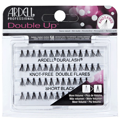 ARDELL DOUBLE UP INDIVIDUAL LASHES KNOT - FREE SHORT BLACK