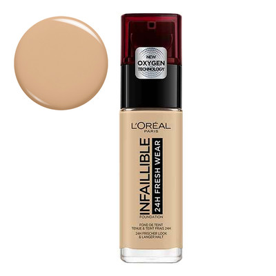 L'ORÉAL PARIS BASE INFAILLIBLE 24H FRESH WEAR - 125 NATURAL ROSE