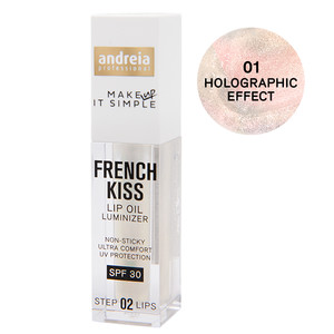 ANDREIA FRENCH KISS LIP OIL LUMINIZER - 01 HOLOGRAPHIC EFFECT