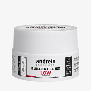 ANDREIA BUILDER GEL 3IN1 LOW VISCOSITY - SOFT WHITE