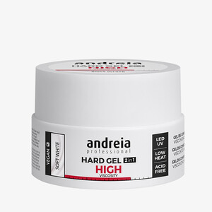 ANDREIA HARD GEL 2IN1 HIGHT VISCOSITY - SOFT WHITE