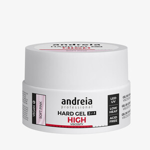ANDREIA HARD GEL 2IN1 HIGHT VISCOSITY - SOFT PINK