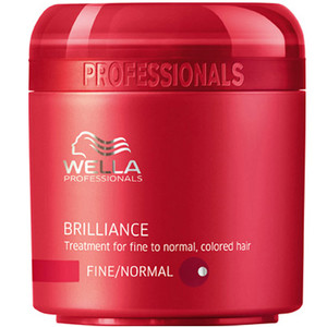 WELLA BRILLIANCE MÁSCARA PARA CABELO FINO/NORMAL