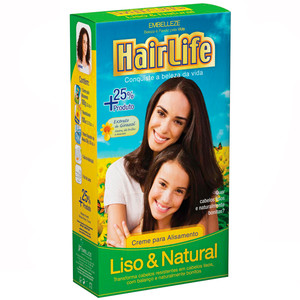CREME PARA ALISAMENTO LISO&NATURAL HAIRLIFE