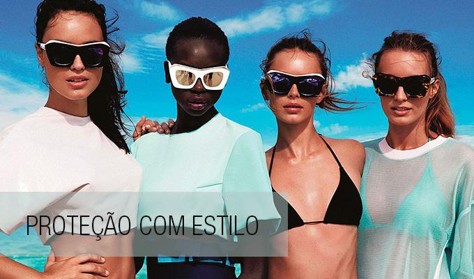 64814b436 Existe acessório que combina mais com o verão do que os óculos de sol? Eles  protegem os olhos e ainda dão estilo e personalidade ao look.